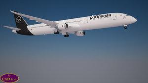lufthansa 787-9 dreamliner 3D model