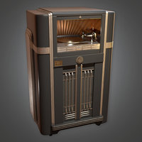Jukebox (Art Deco) - PBR Game Ready