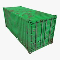 rusty container 20ft green model