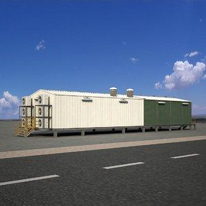 3D exterior ware house building