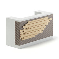 rectangular reception desk 3D