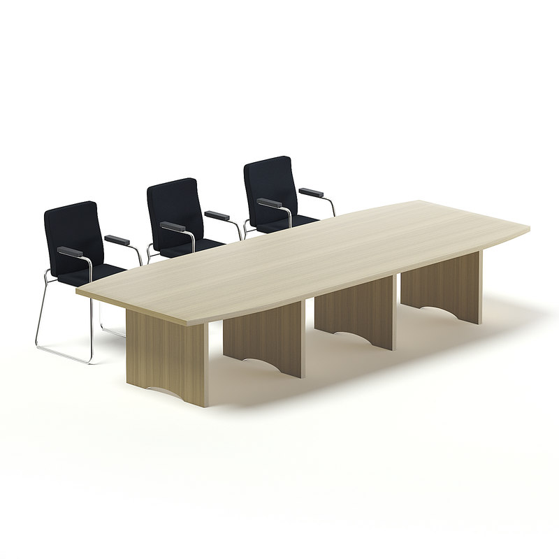 large conference table 3D model