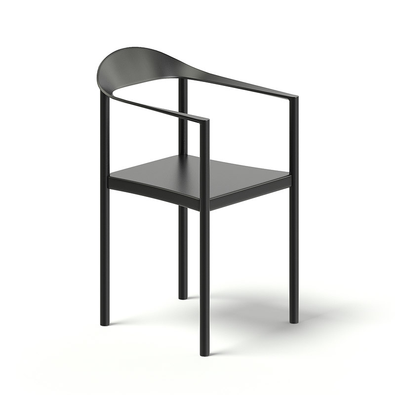 3D black chair