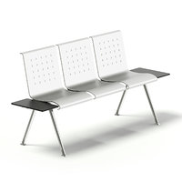 3D silver waiting chairs model