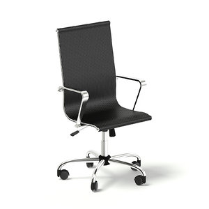 black swivel chair 3D