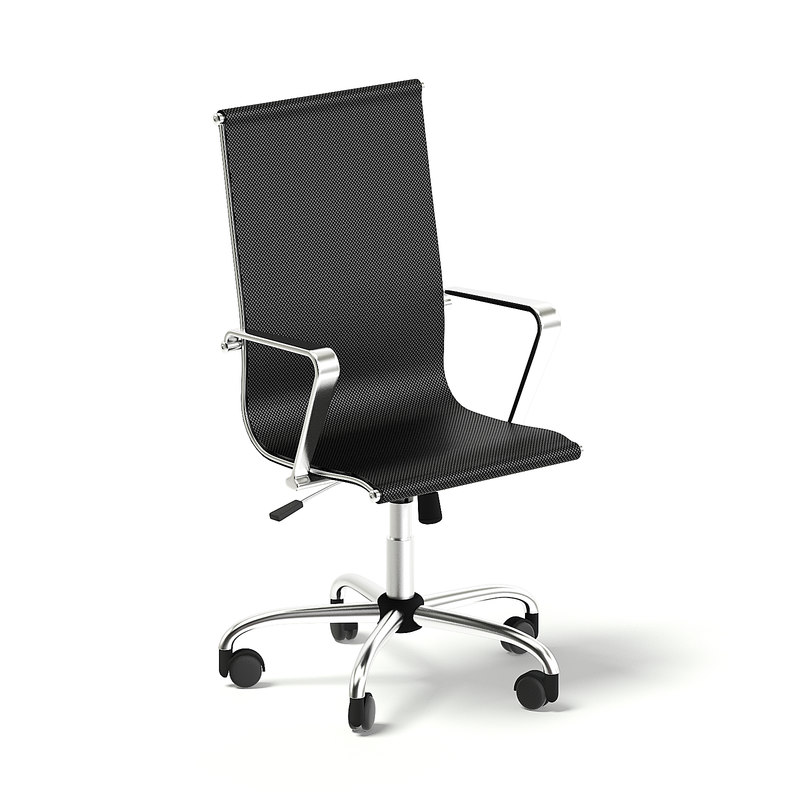 black swivel chair 3D