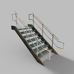 industrial stair 1 3D model