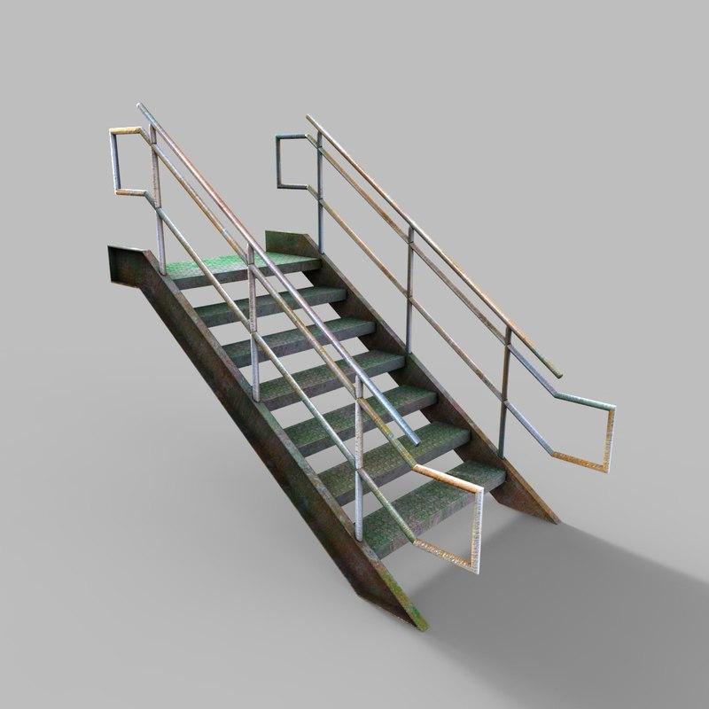 industrial stair 1 3D model
