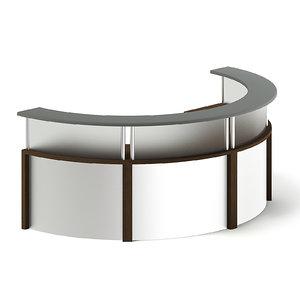 3D desk reception