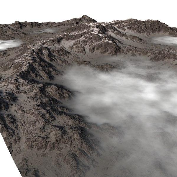 snowy valley 3D model