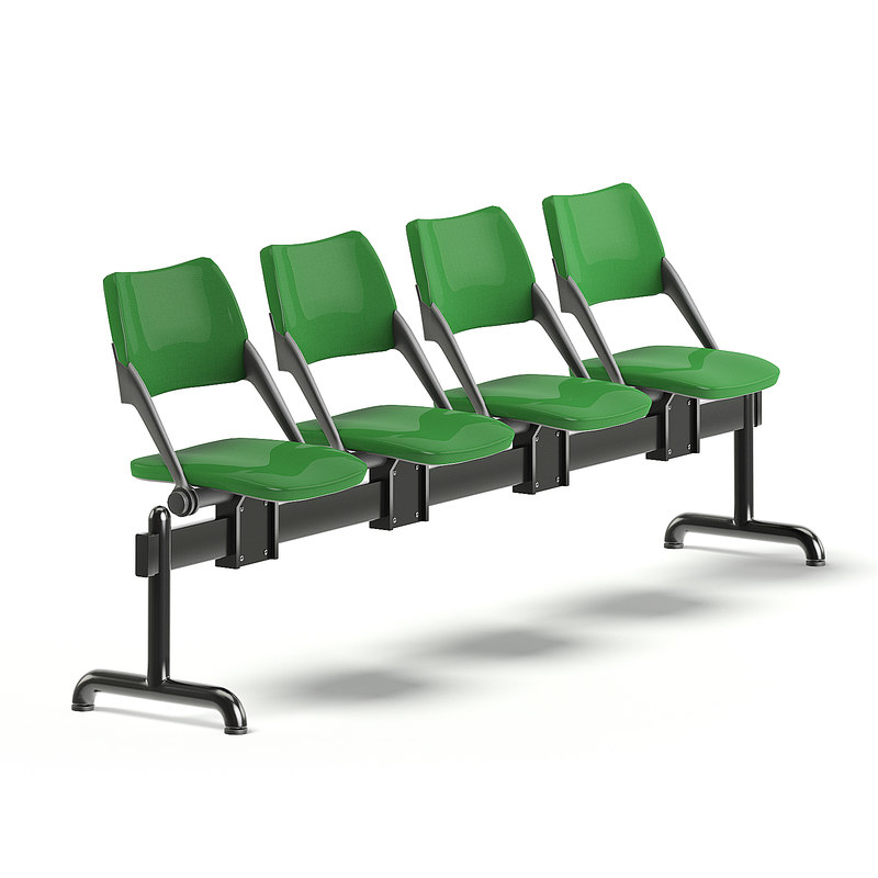 3D green waiting chairs