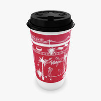 paper cup hot drinks 3D model