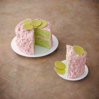 3D model cake green glaze