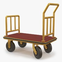 luggage trolley model