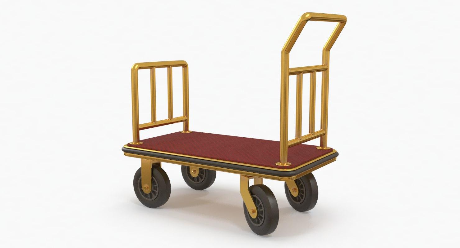 luggage trolley model