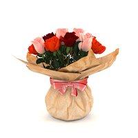 3D rose paper