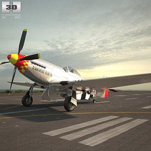 north american p-51 3D model