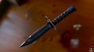 3D model bayonet m9