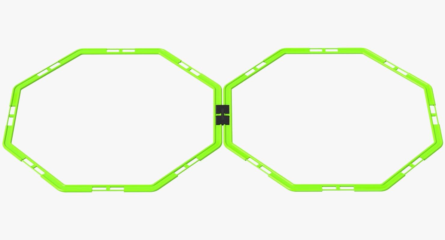 flat octagon hurdle sparq 3D model