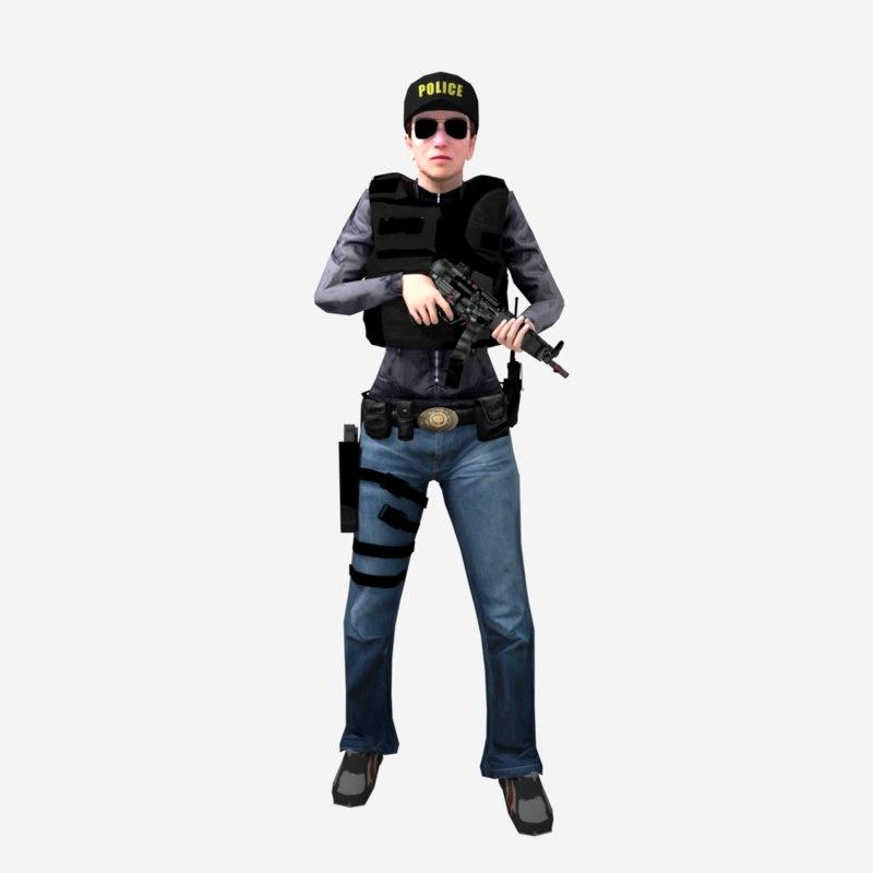 3D female gun reloads