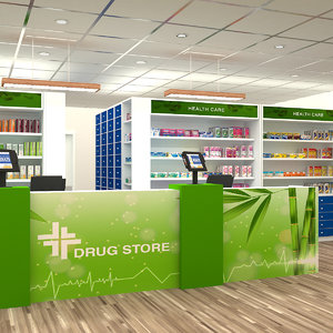 3D drug store s