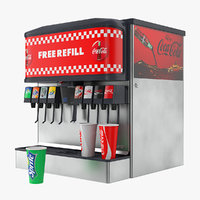 3D soda fountain dispenser