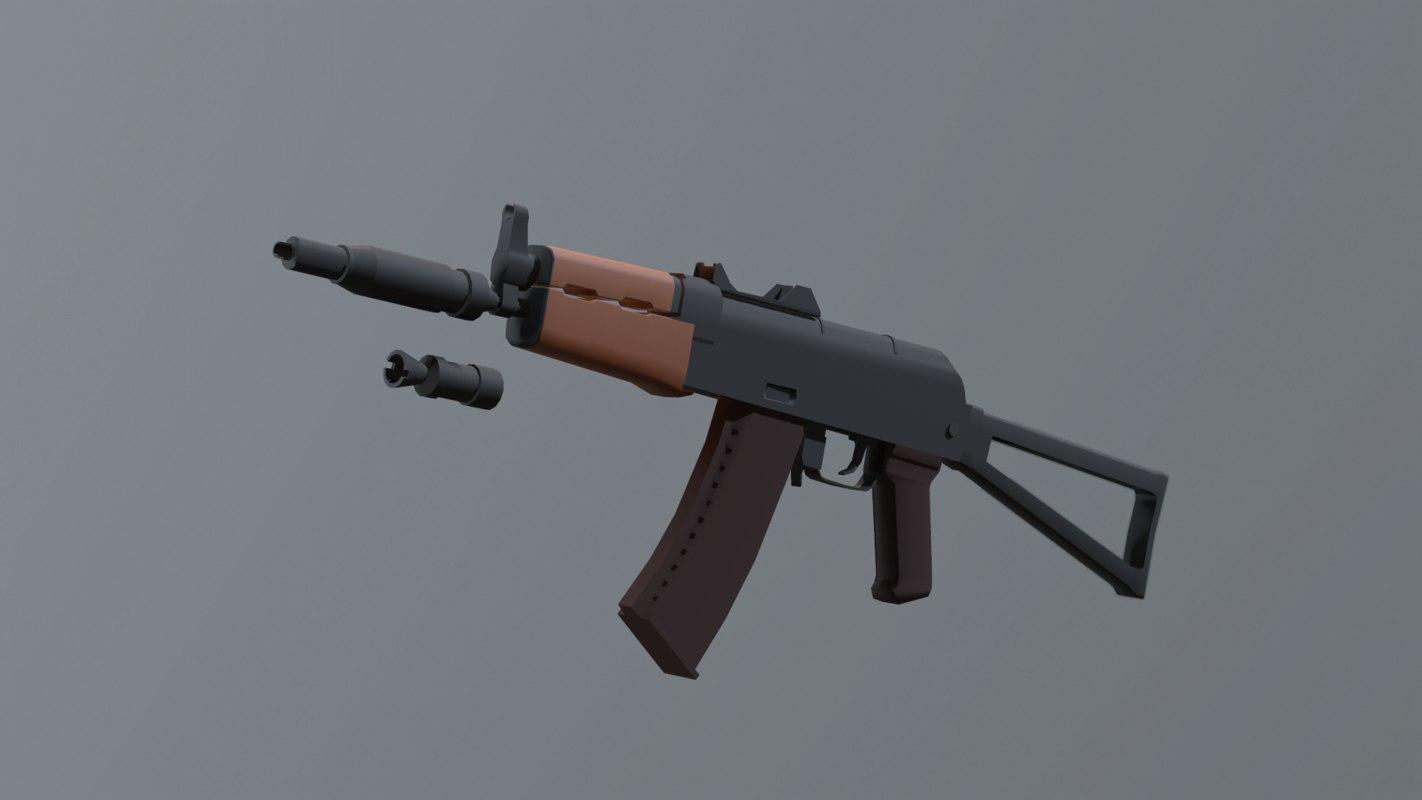 russian ak-74u 3D