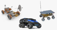 3D model rigged space vehicles