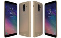 samsung galaxy a6 gold 3D