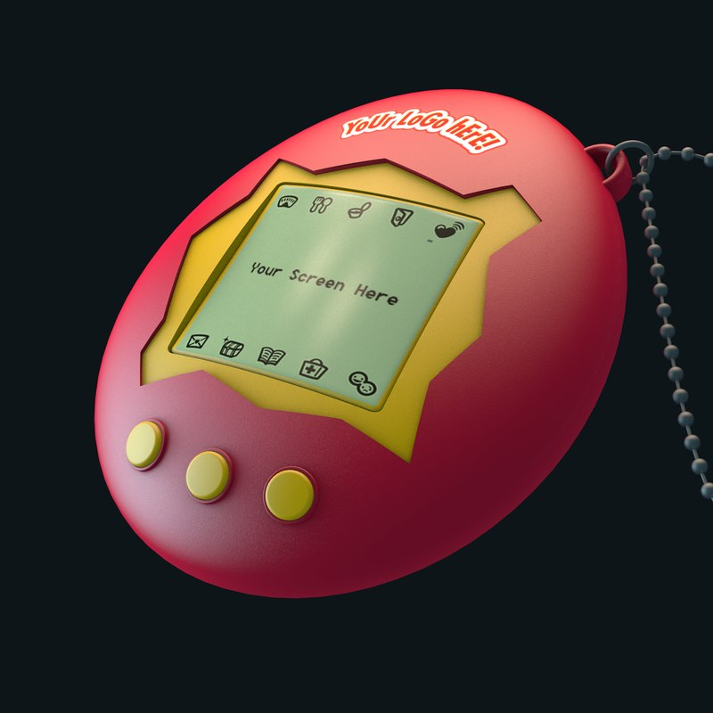 3D tamagotchi 90s