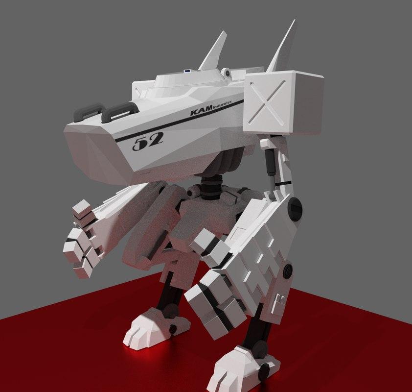 3D mech digitigrade rigged