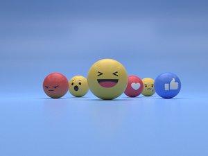 reaction emoji 3D model