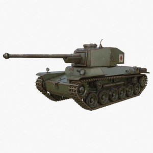 3D model tank type 3 chi-nu