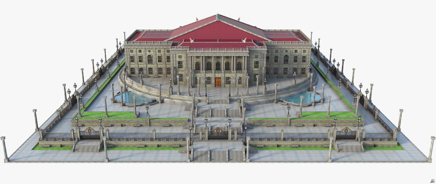 modeled scene 3D