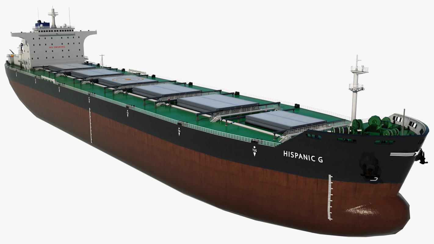 3D model cargo ship hispanic g