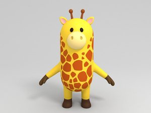 3D giraffe cartoon model