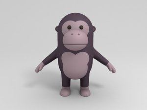 gorilla cartoon 3D model