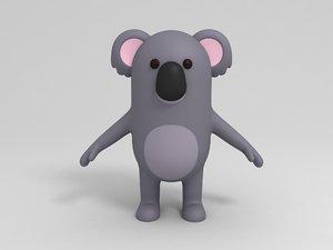 3D koala cartoon model
