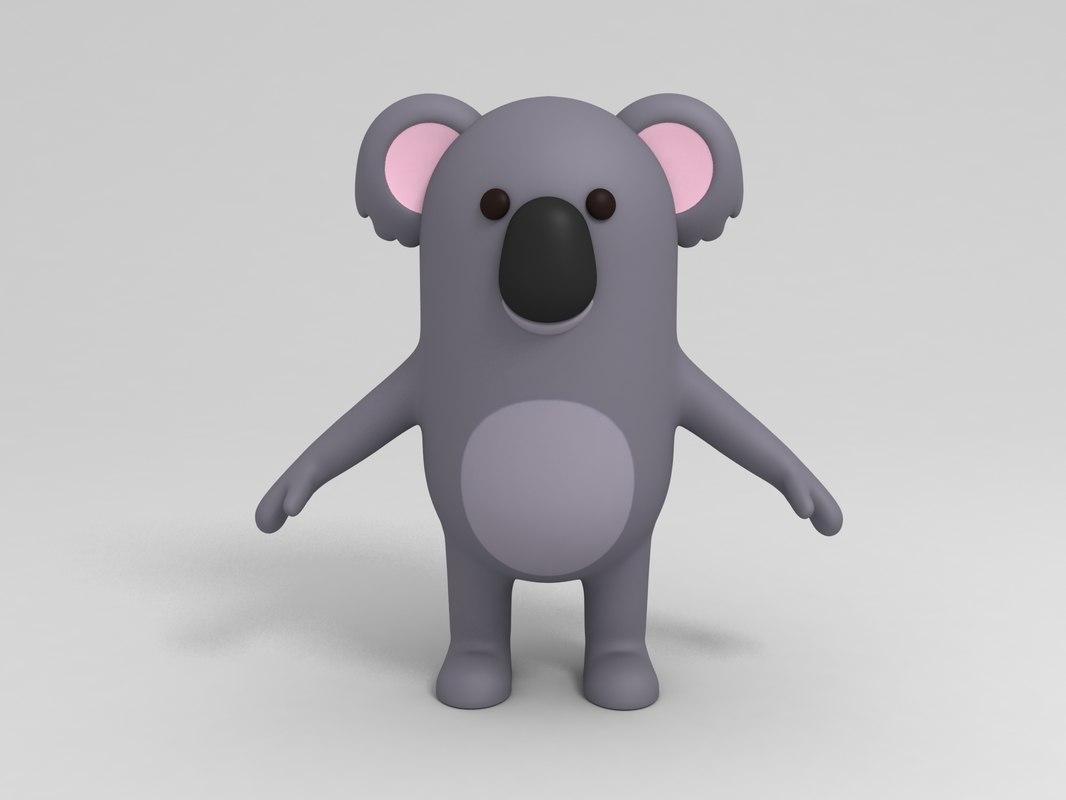 Koala simpatico cartone animato mano waving u vettoriali stock