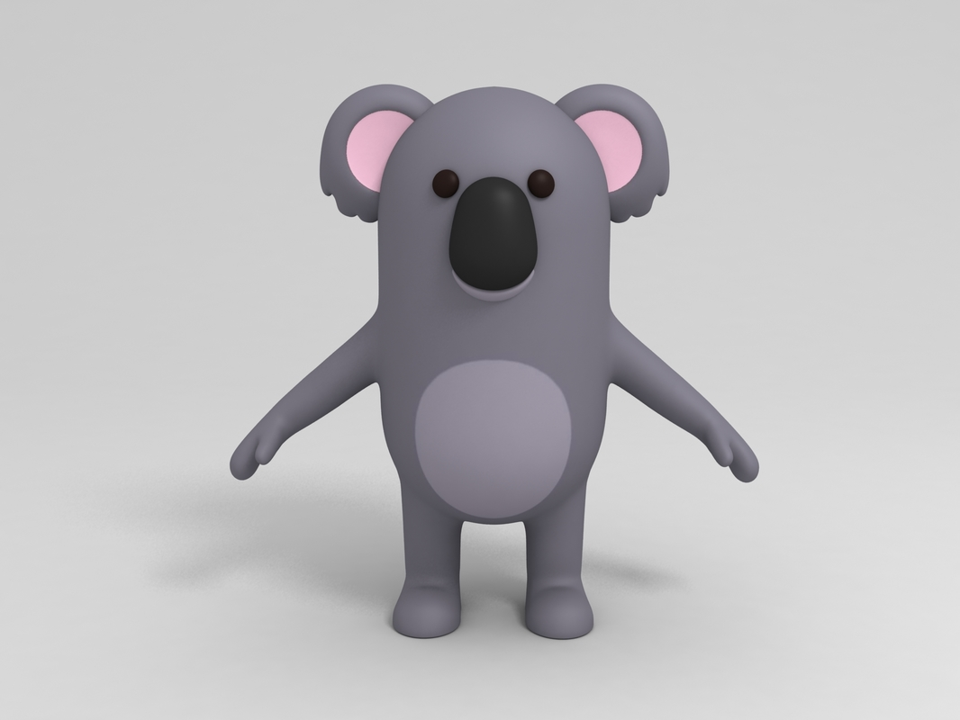 3D koala cartoon model