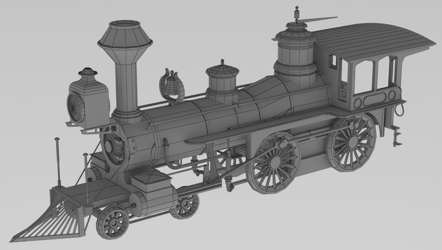 1873 grant locomotive 3D