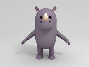 rhinoceros cartoon 3D