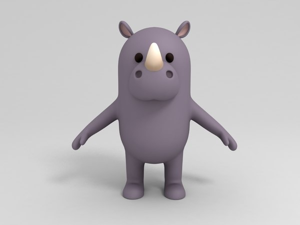 rhinoceros cartoon 3D