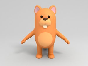 3D squirrel cartoon model