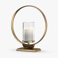 3D model modern-candle-holder----lit-flame