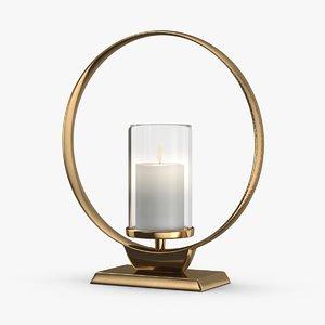 3D model modern-candle-holder----lit-flame