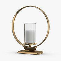 3D modern-candle-holder----unlit