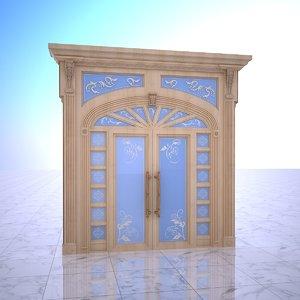 old ornamental gate 3D