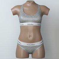 3D lingerie mannequin model
