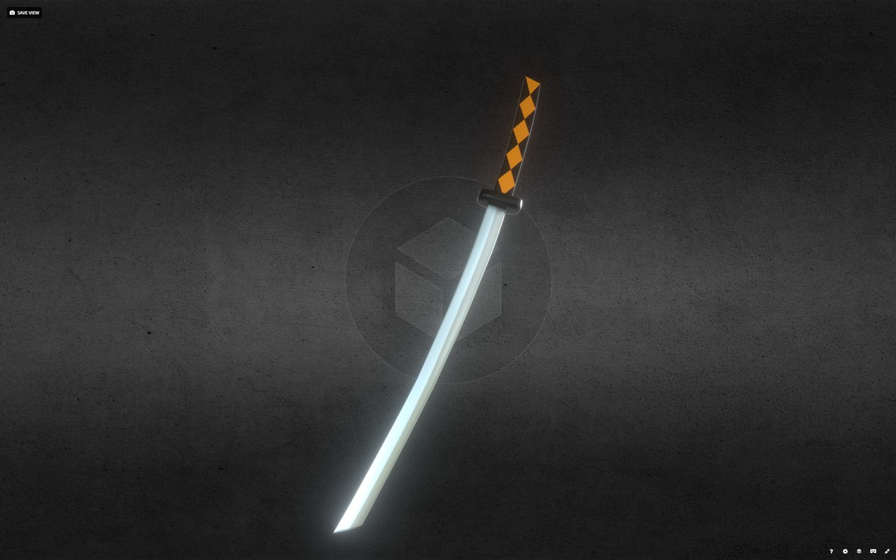 3D sword samurai jack